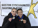 Two Commonwealth Athletes finished first at the Boston Synchronized Skating Classic