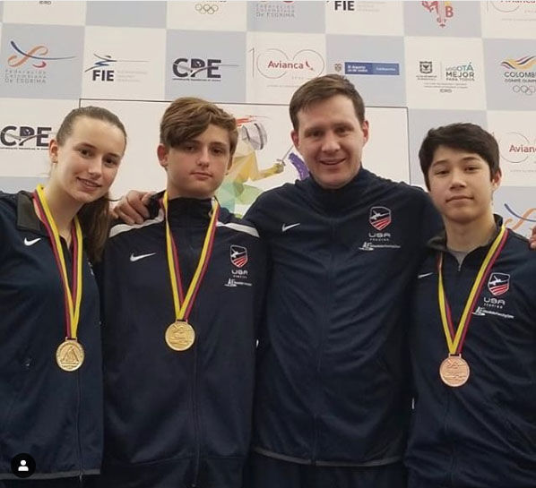 Spencer Vermeule '22 Wins Bronze Medal for Team USA Fencing