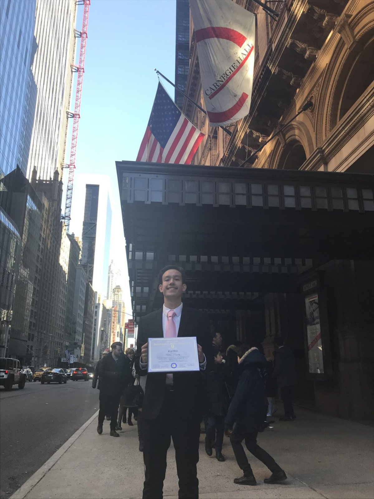Andrew Haggerty '21 Take First Place at International Music Competition in NYC