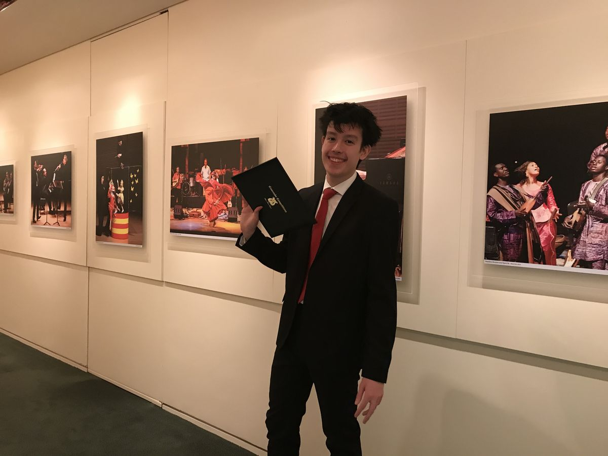 Andrew Haggerty '21 Wins Crescendo International Competition